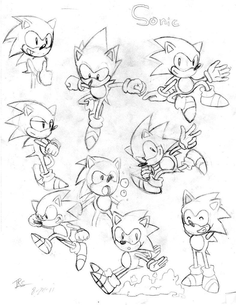 786x1017 Classic Sonic Sketches 2 By Trueretrosonic