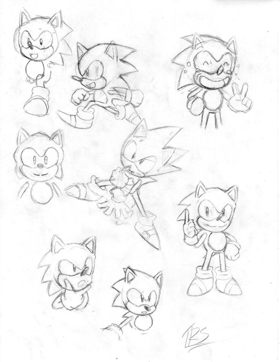 900x1165 Classic Sonic Sketches By Trueretrosonic