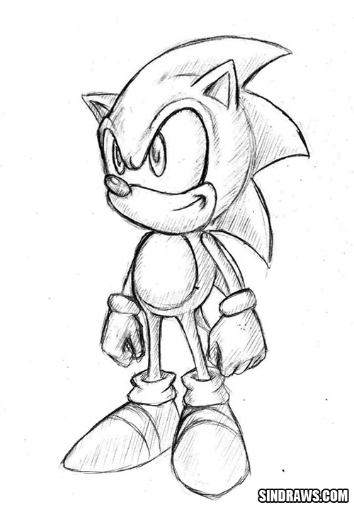500x722 Classic Sonic By Sindraws