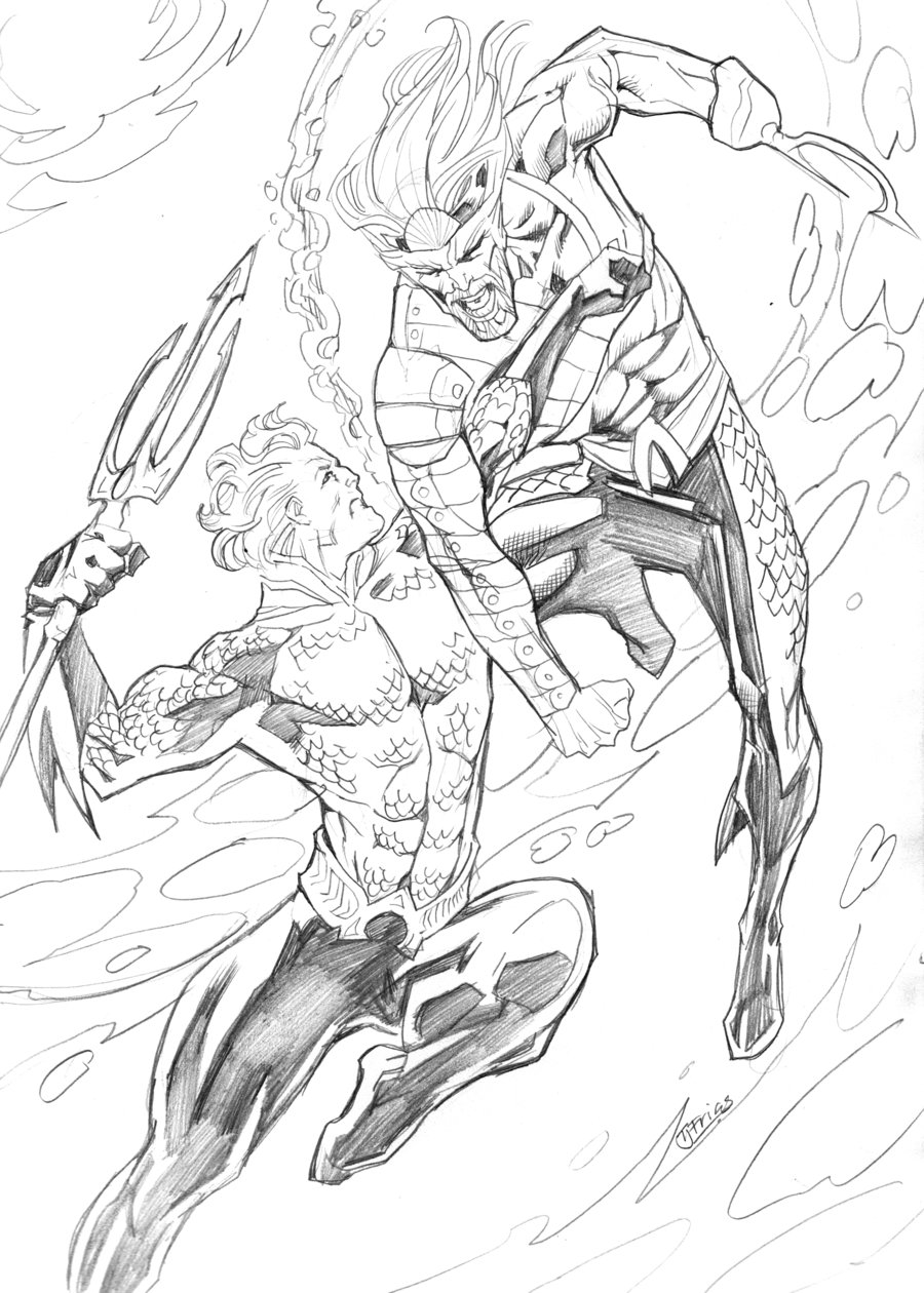 900x1260 Classic Vs Dcnu Aquaman By Guinnessyde On Lineart