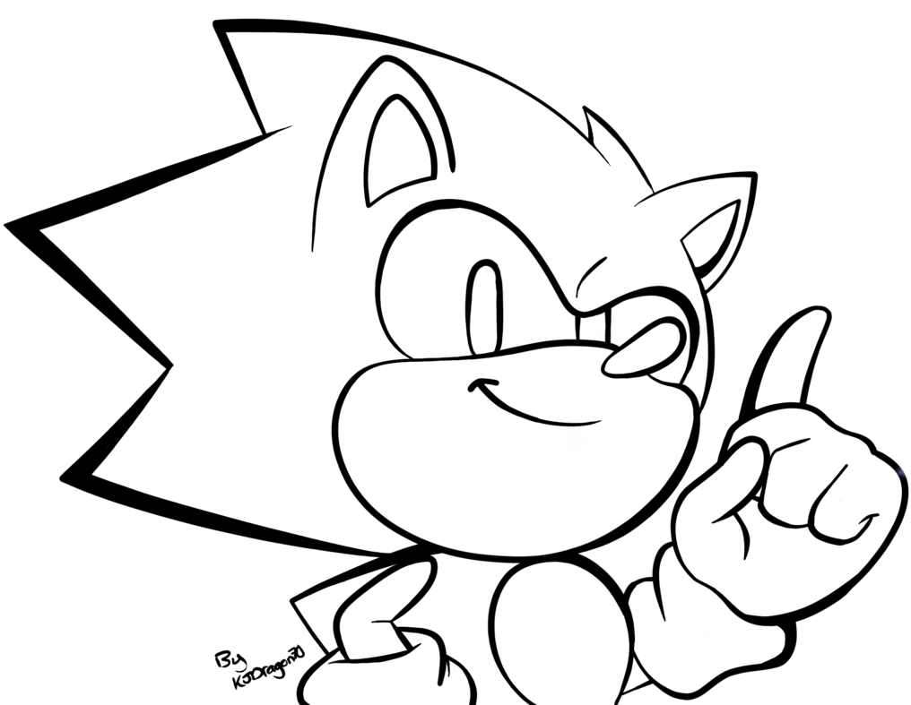 1016x787 A Small Classic Sonic Sketch Lineart By Kjdragon70