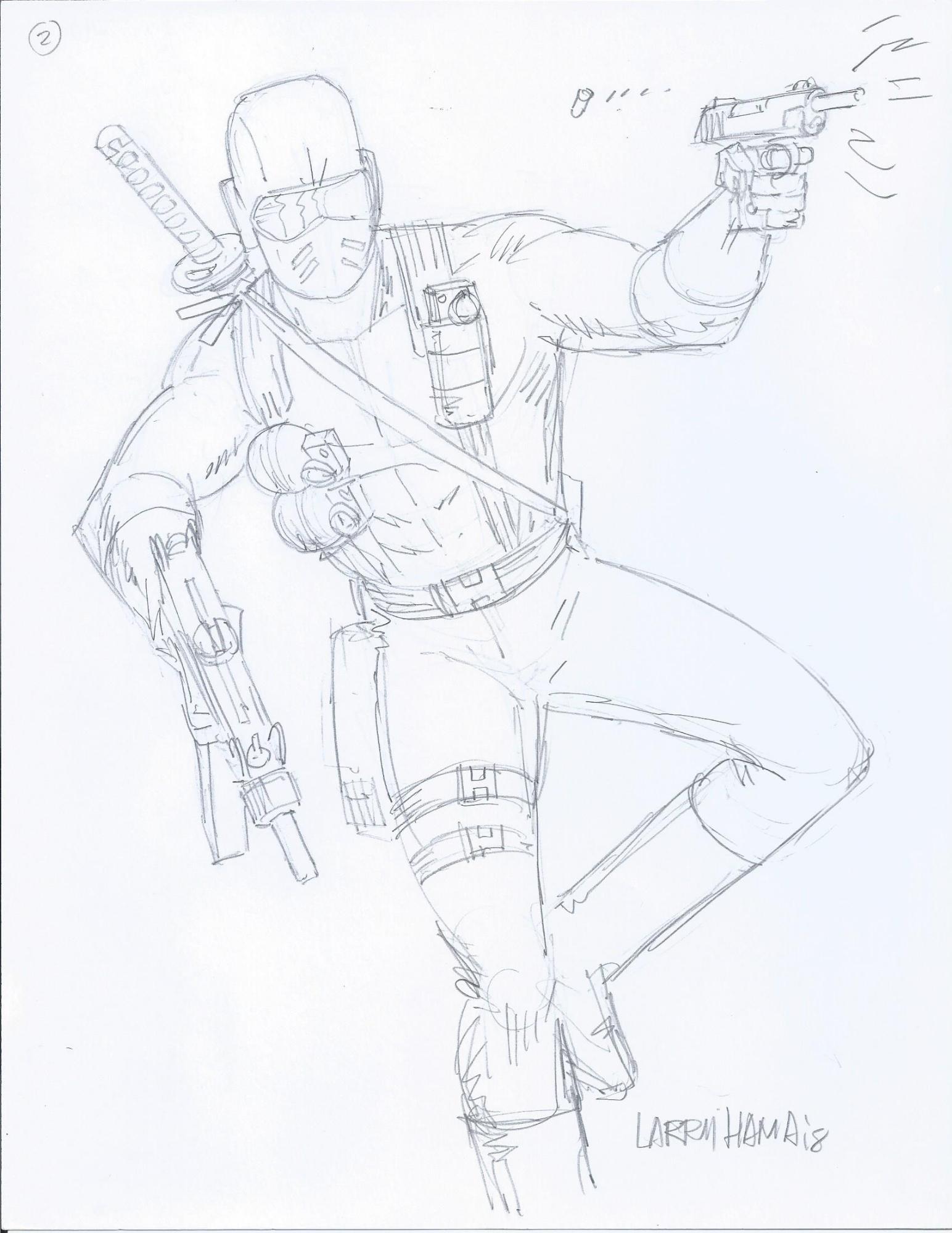 1544x2000 G.i Joe Classic Snake Eyes Sketch Larry Hama