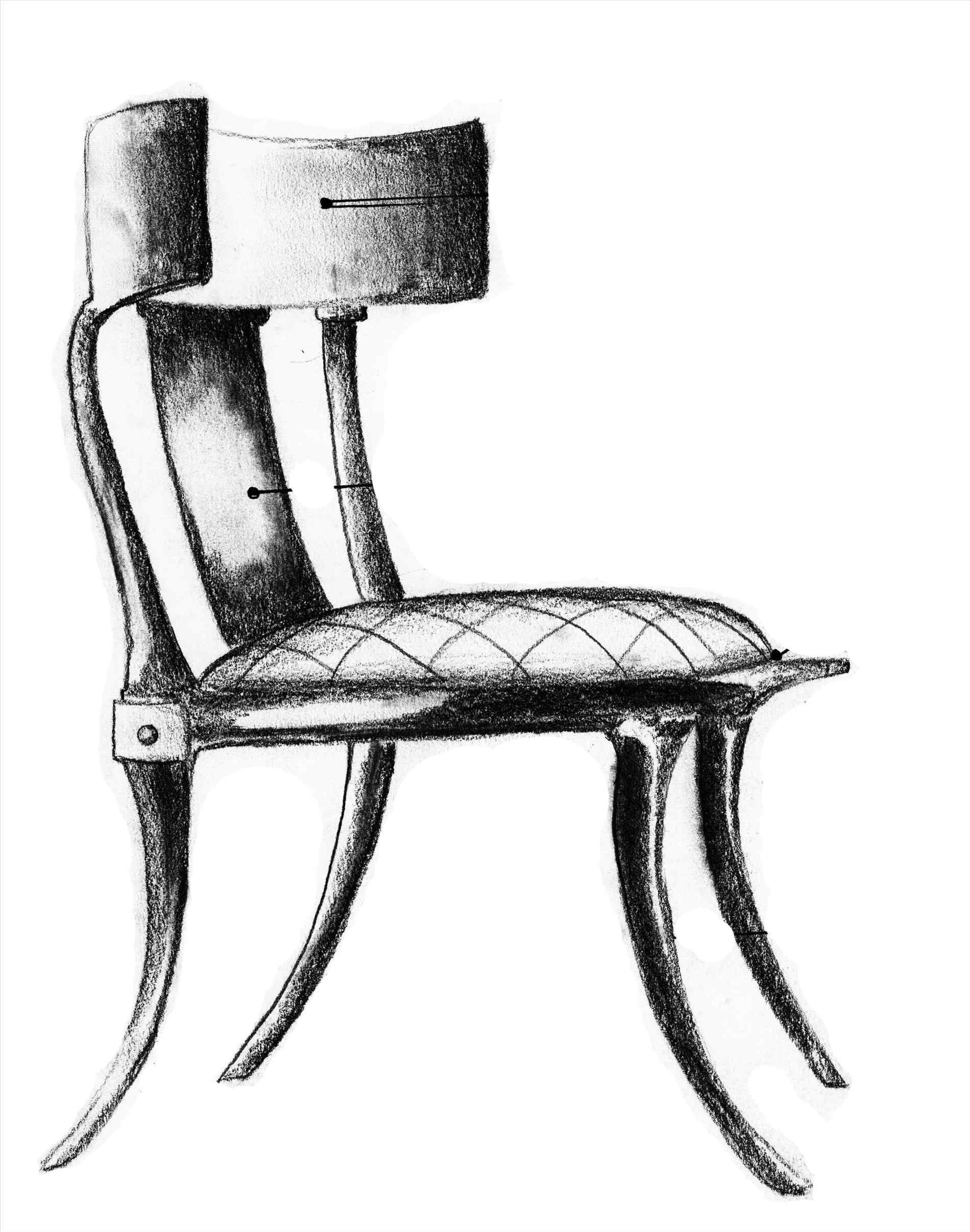 1900x2412 The Images Collection Of To Queen Anne Chair Drawing Draw Rocking