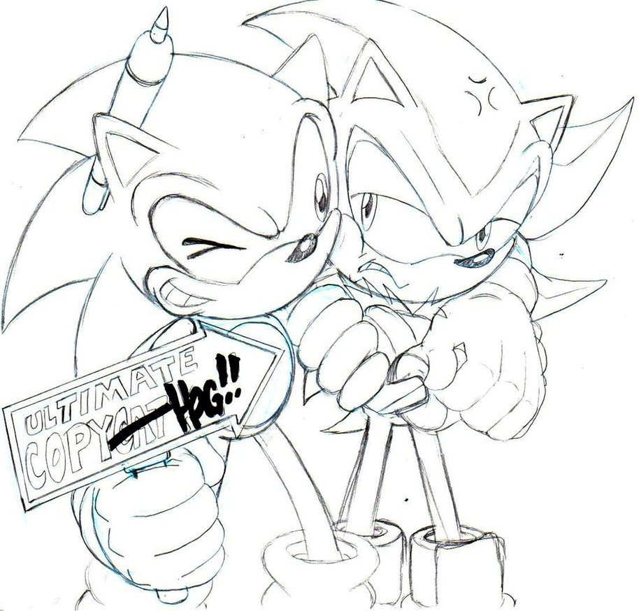 914x874 Classic Sonic And Shadow Sketch By Trunks24