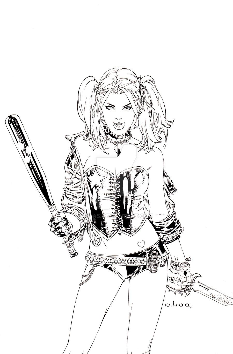 900x1366 Harley Quinn By Ebas