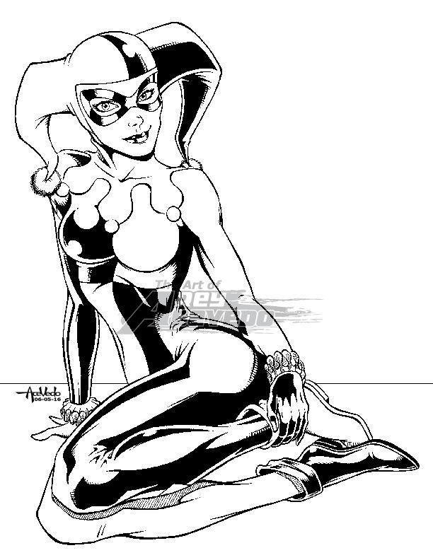 612x792 Classic Harley Quinn By Reyacevedoart