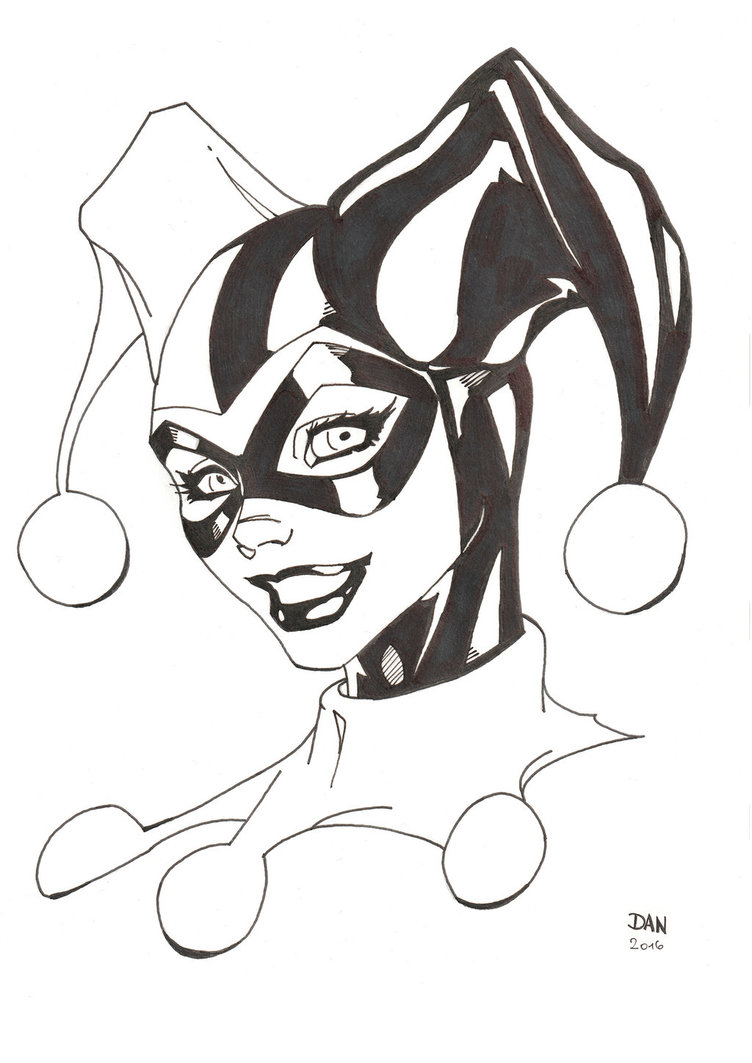 Harley Quinn Tattoo Black And White Best Tattoo Ideas
