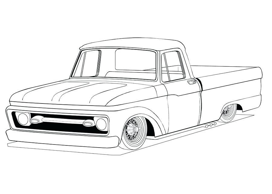 Classic Truck Drawing At Getdrawings Com
