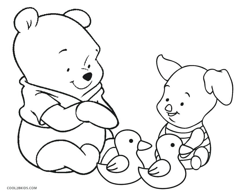 850x668 Printable Winnie The Pooh Coloring Pages Piglet Is Drawing A Star