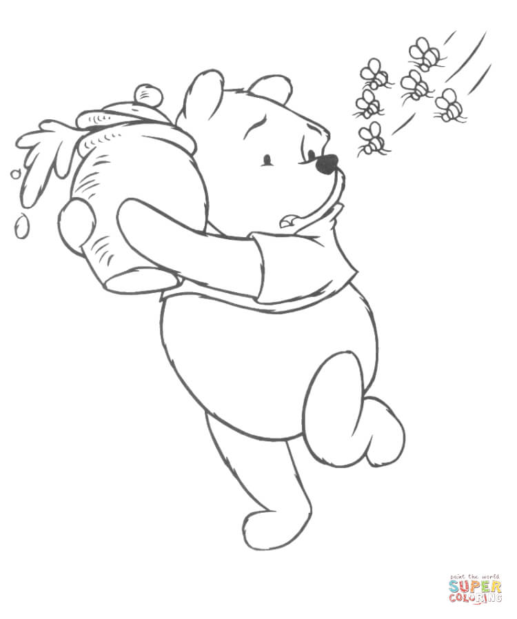 750x898 Winnie The Pooh Coloring Pages Free Coloring Pages