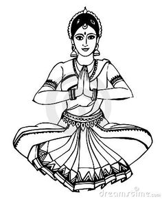 236x290 Folk Dances Of India Coloring Pages, Bharatanatyam Classical Dance