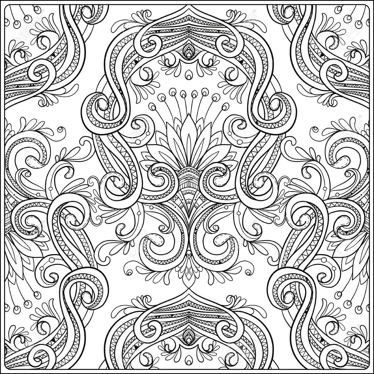 1300x1300 Vintage Background Brown Baroque Pattern. Damask Pattern Element