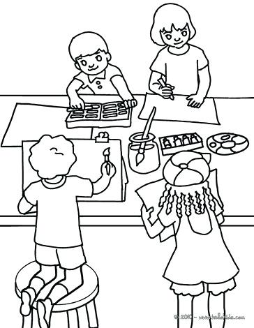 364x470 Classroom Coloring Page Geography Lesson Drawing Lesson Coloring