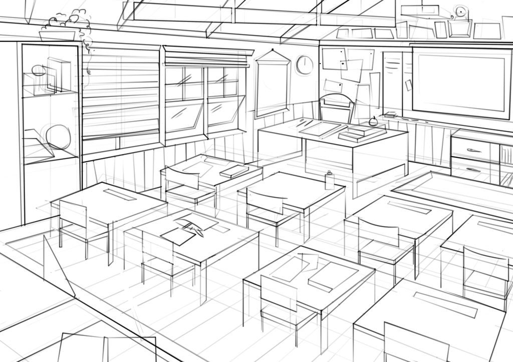 Classroom Design Drawings ~ Classroom drawing at getdrawings free for personal