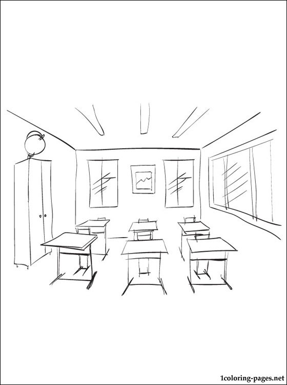 560x750 Classroom Coloring Page Coloring Pages