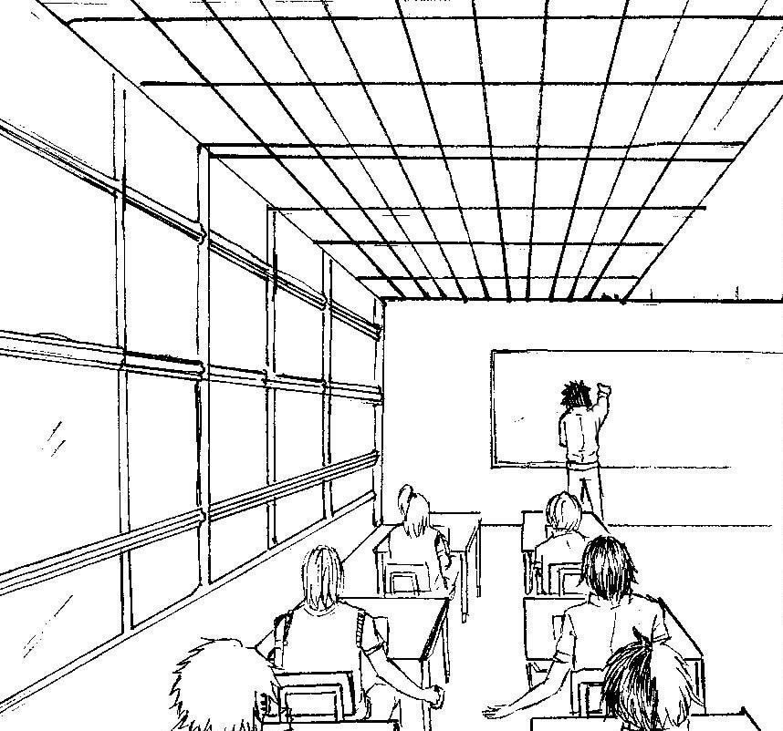858x802 Akatsuki Classroom By Nanako Saeki