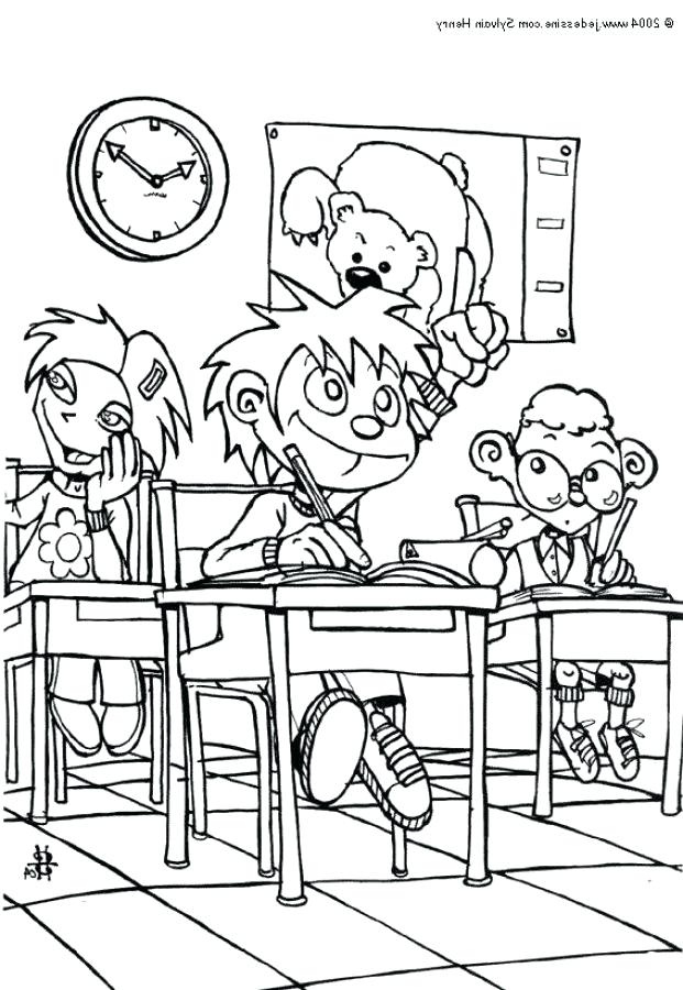 621x900 Classroom Coloring Pages