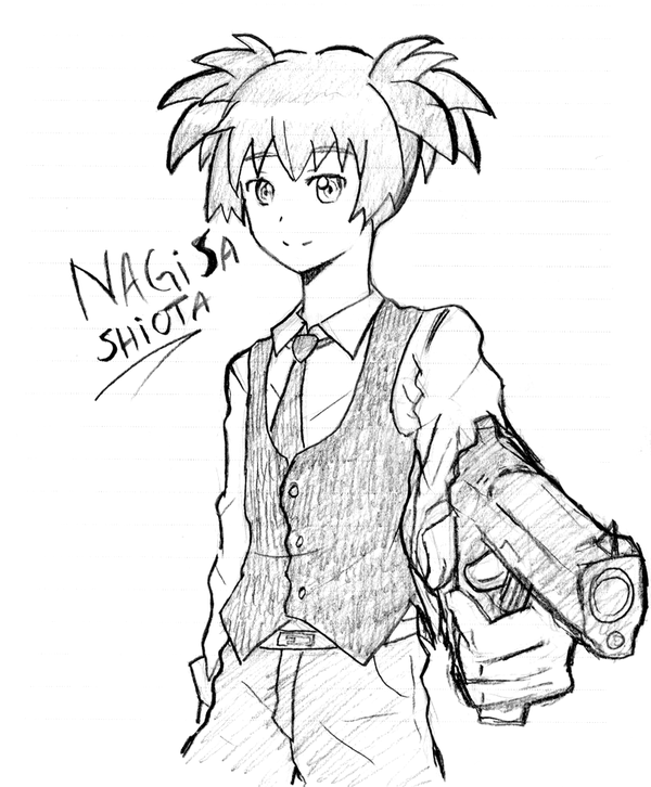 600x726 Assassination Classroom] Shiota Nagisa By Little Canvas