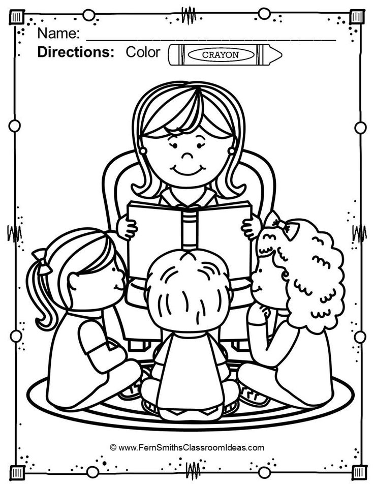 736x952 Back To School Coloring Pages Writing Lessons, Creative Writing