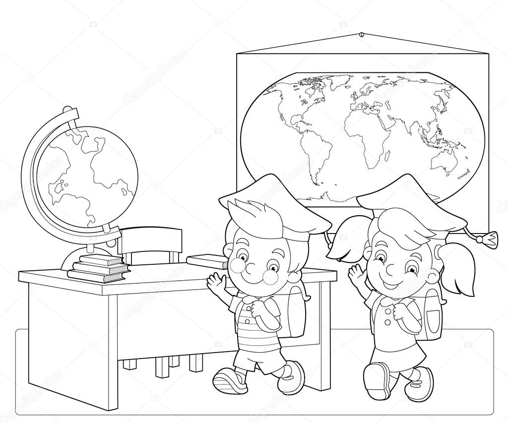 Classroom Line Drawing at GetDrawings | Free download