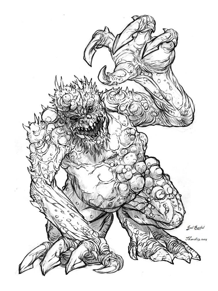 756x1008 Claw Monster By Reifel96