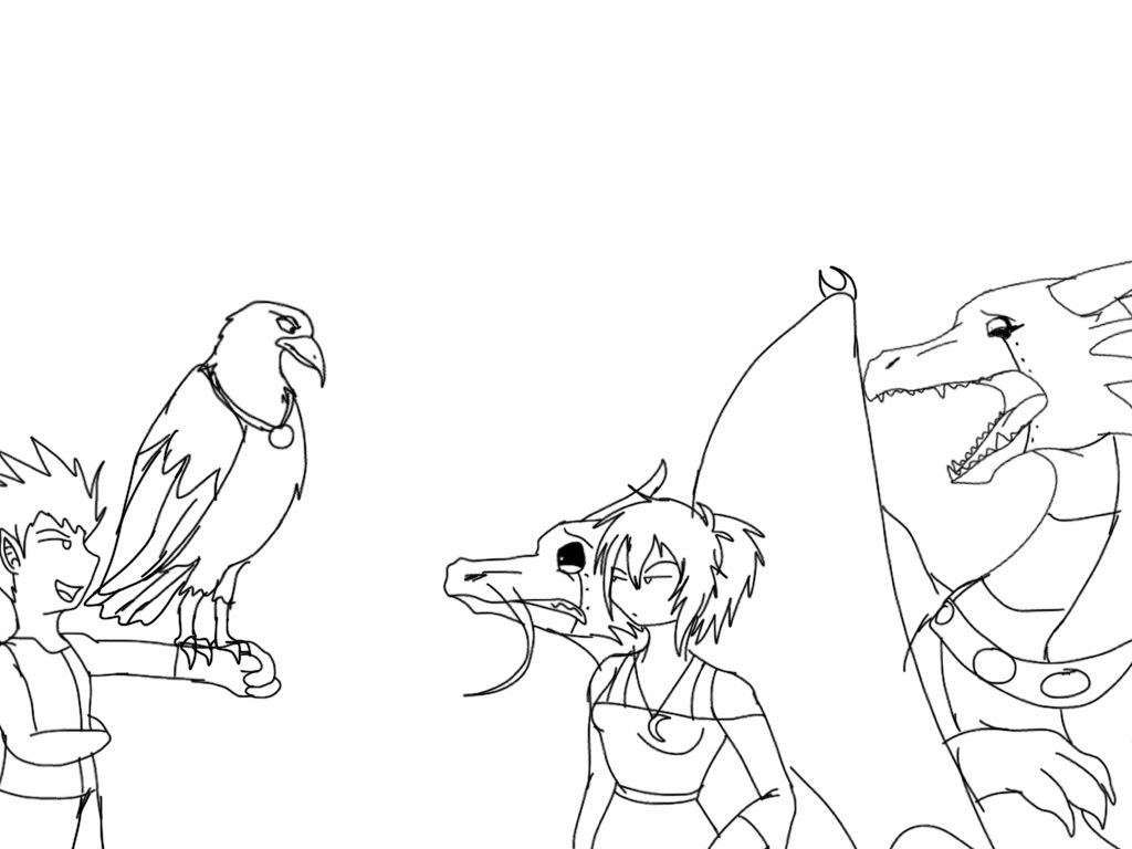 1024x768 Claw The Troll Sketch By Blackdragon Studios