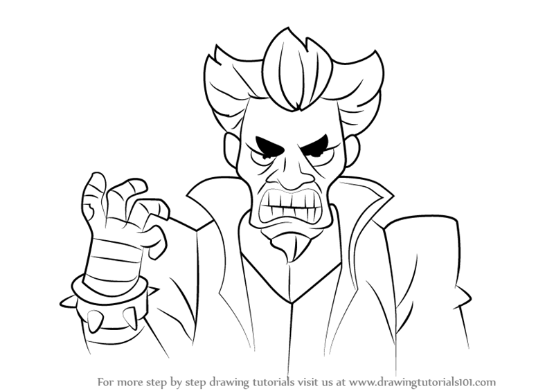 800x565 Learn How To Draw Doctor Claw From Inspector Gadget (Inspector