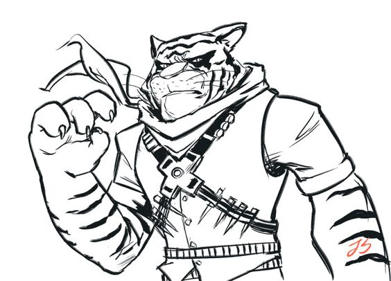 564x406 Tiger Claw Was Challenging To Draw, Decided To Try A Different
