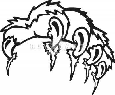 400x331 Wildcat Claw Marks Clipart