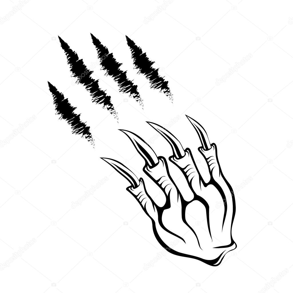 1024x1024 Monster Claws And Claws Marks Stock Vector Uvaconcept
