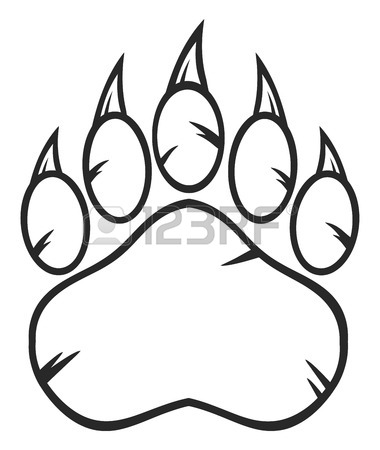 380x450 Bear Paw Stock Photos. Royalty Free Business Images