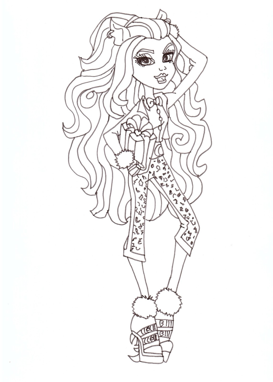1144x1600 Free Printable Monster High Coloring Pages Clawdeen Wolf Sweet