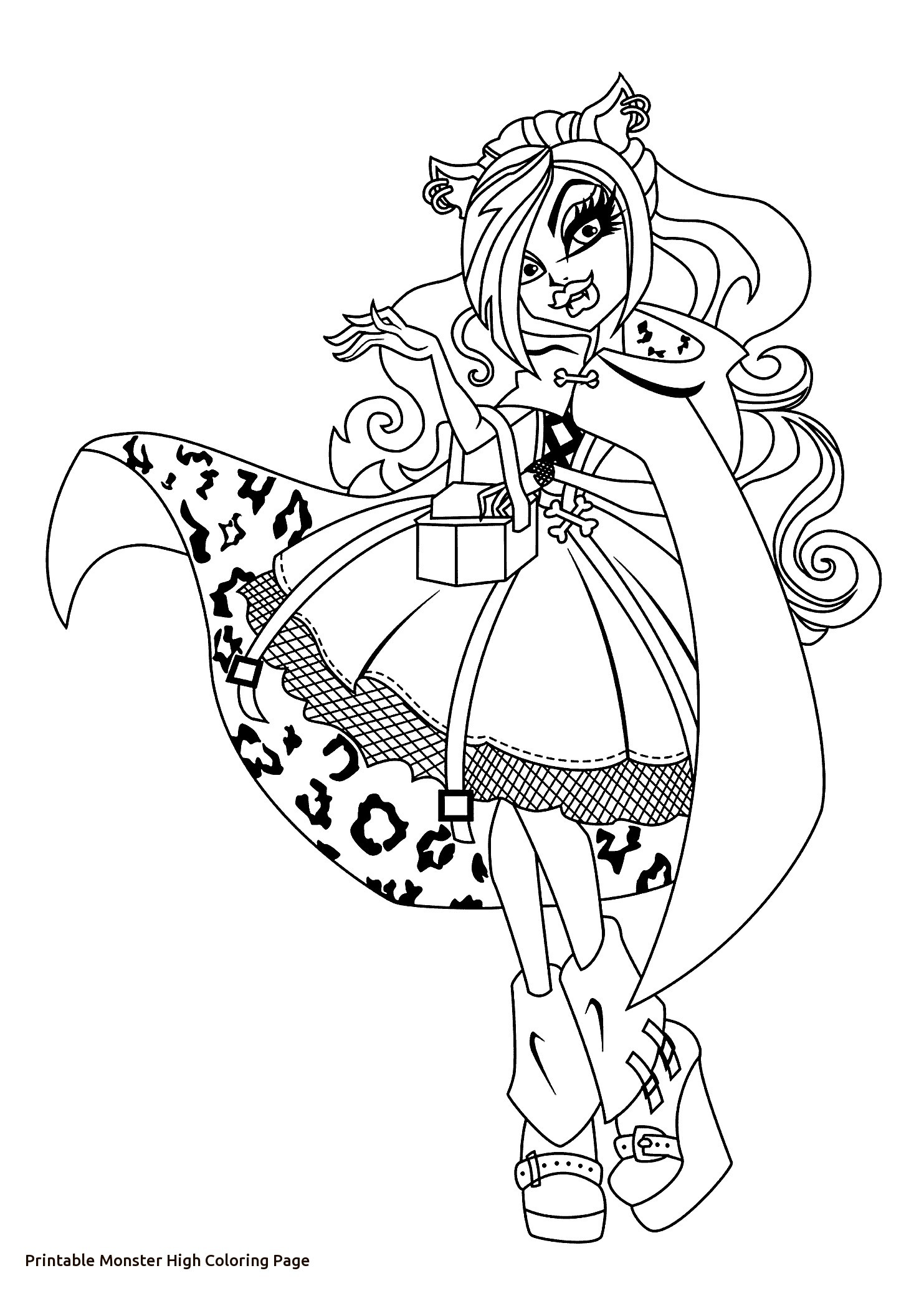 1483x2079 Monster High Coloring Pages Clawdeen Wolf Wallpapers