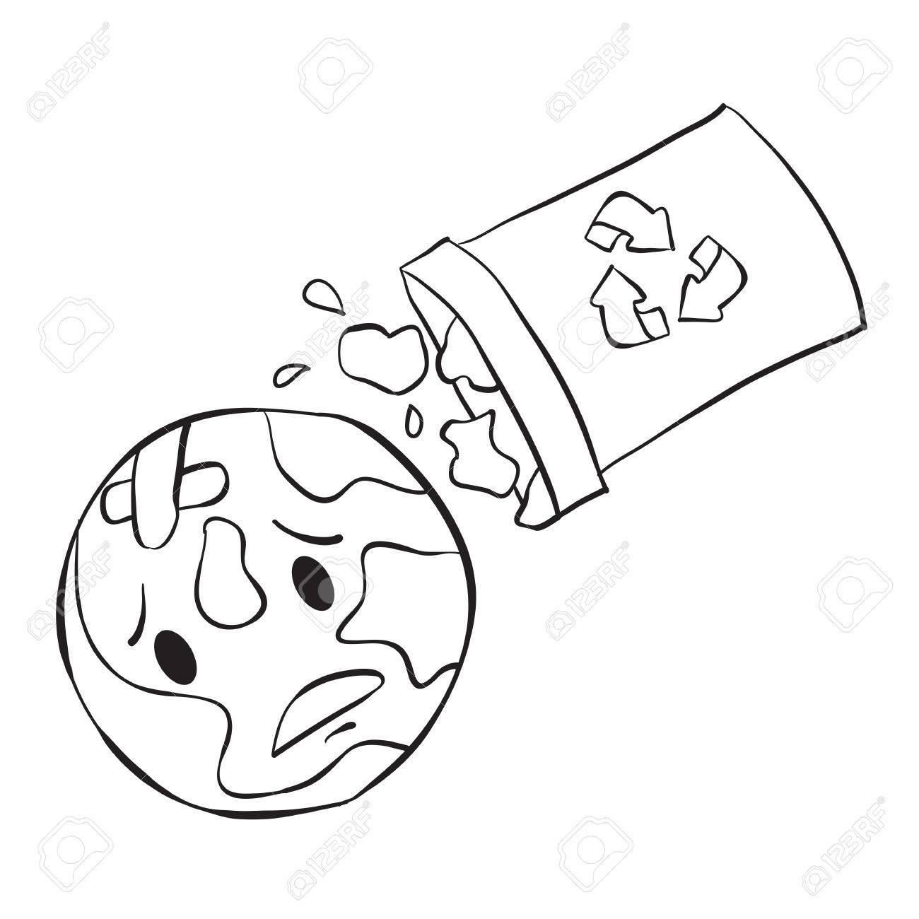 1300x1300 Doodle Of Trash Bad Environment Royalty Free Cliparts, Vectors