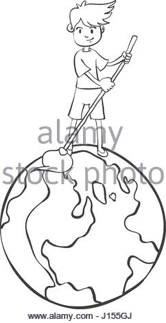 242x470 Hand Draw Tree World For Earth Day Stock Vector Art Amp Illustration