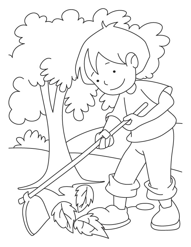612x792 Children Cleaning Environment Clipart Black And White