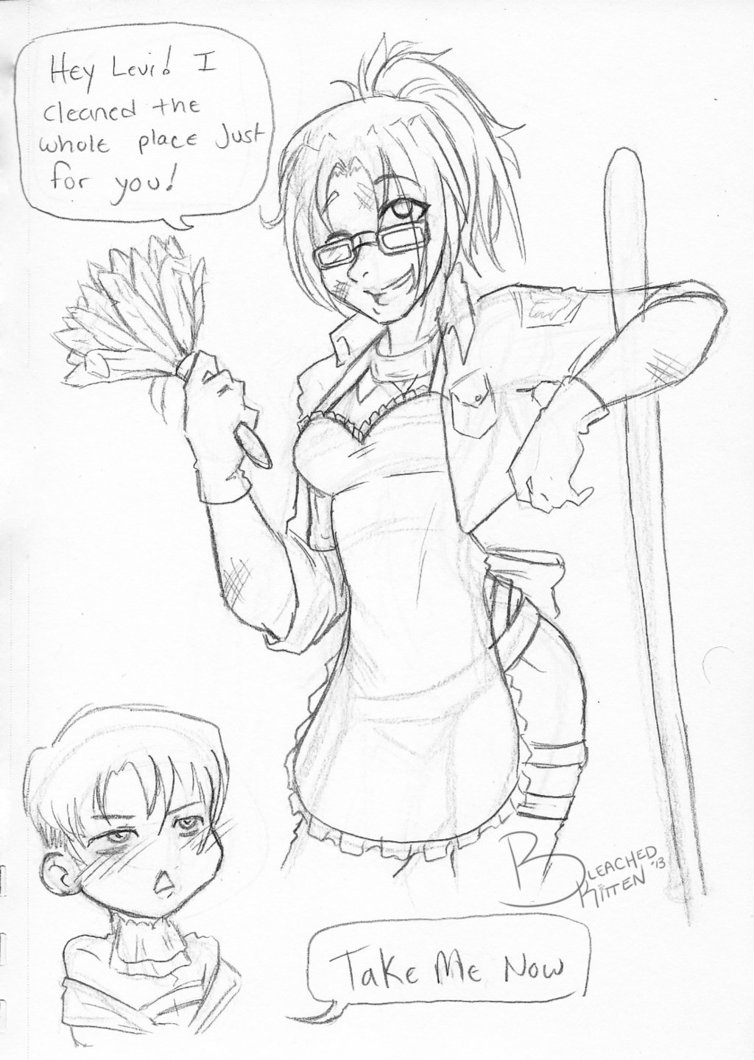 754x1060 Cleaning Up House Levihan By Bleachedkitten