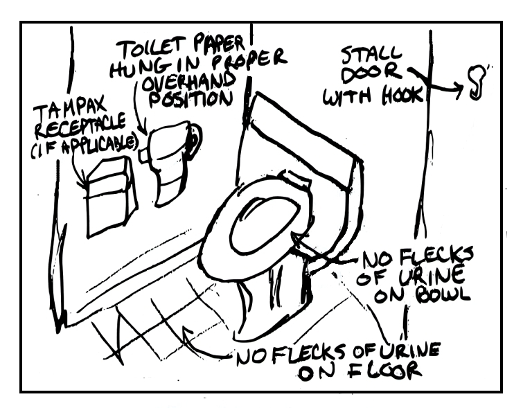 Clean Toilet Drawing