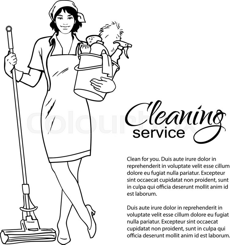 751x800 Cleaning Services. The Cleaner With A Mop. Cleaning Homes