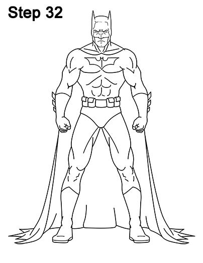 404x523 How To Draw Batman (Full Body)