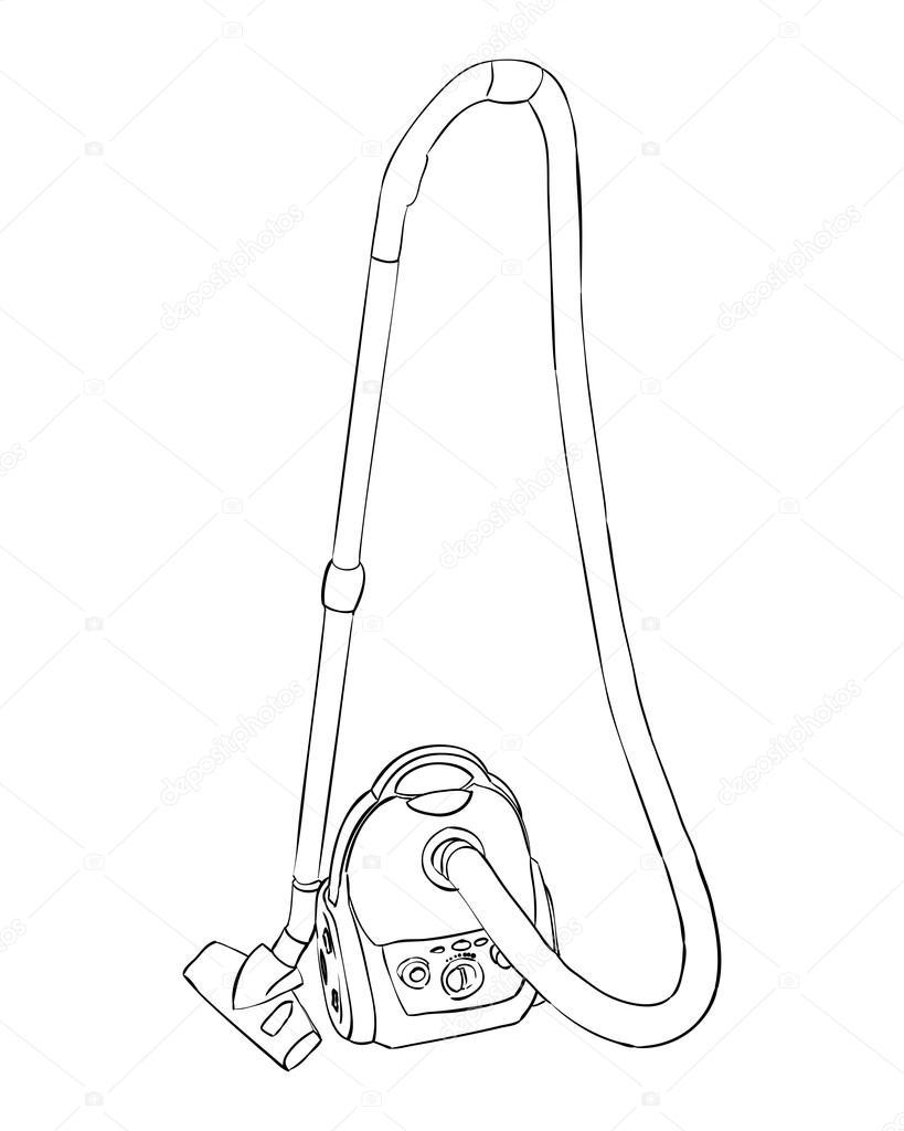 819x1024 Sketch Of Vacuum Cleaner. Stock Vector Beatwalk