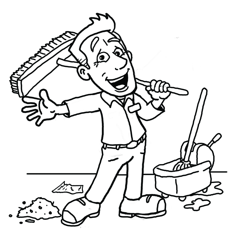 1000x1000 Cleaner Clipart Black And White