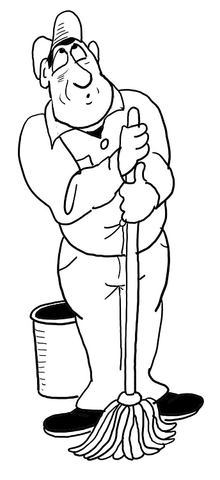 220x480 Cleaner Coloring Page Free Printable Coloring Pages