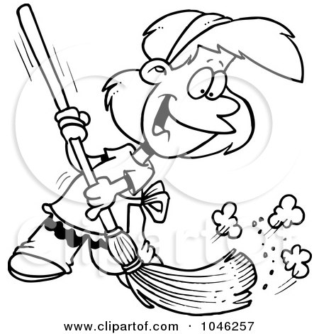 450x470 Cleaning Floor Clipart Black And White