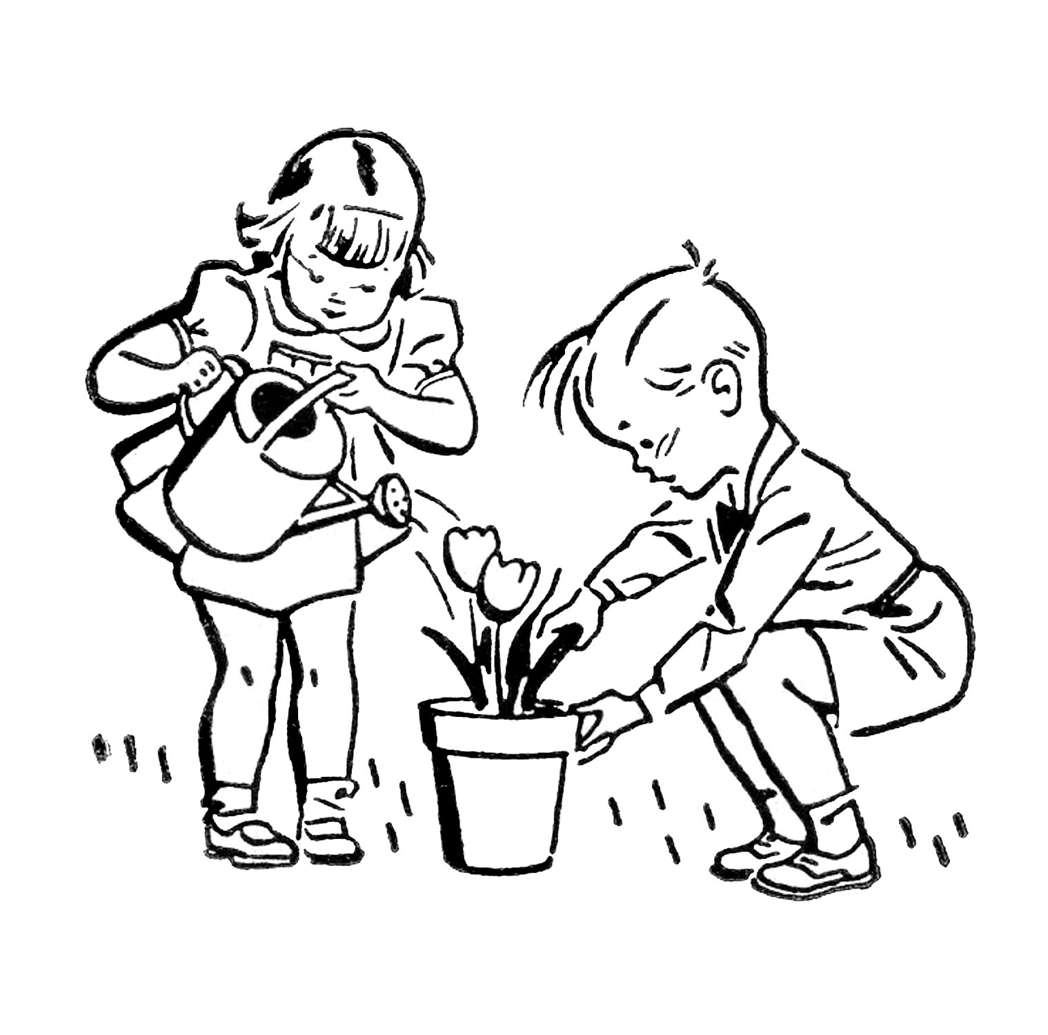 1519x1500 Kids Cleaning Clipart Black And White Station