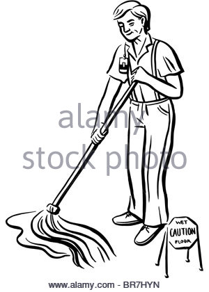 300x420 Cartoon Illustration Of A Man Cleaning Up His List Social