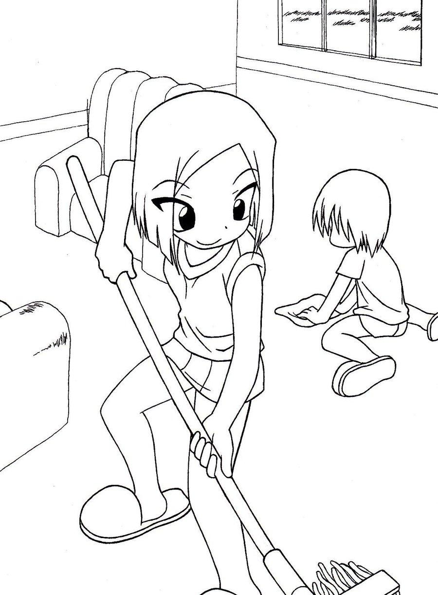 900x1222 Household Chores 4 Of 4 Yoko By Zeckos