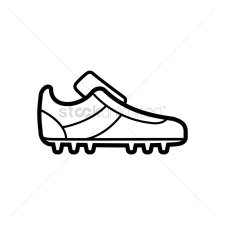 450x450 Free Soccer Cleats Stock Vectors Stockunlimited