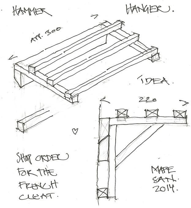 624x679 Hammer Hanger