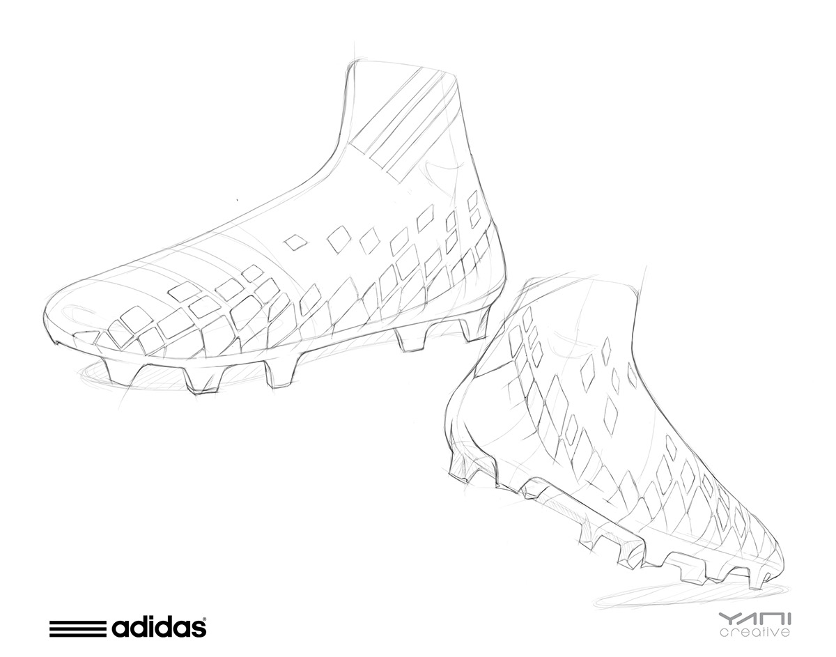 1200x943 Adidas Soccer Cleat Design On Behance